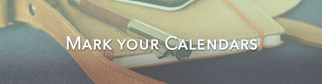 Charity Activities Mark your calendars