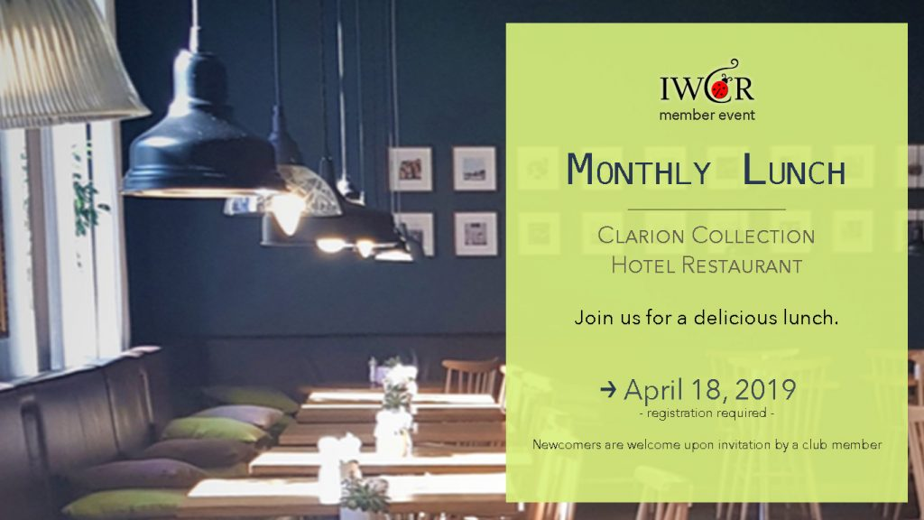 IWCR April Lunch 18. April 019