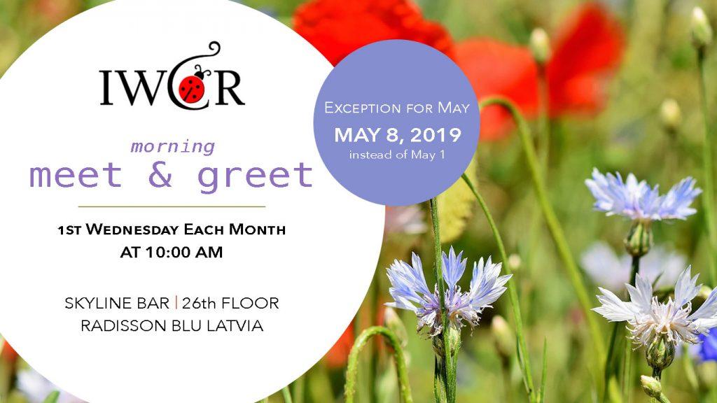 IWCR Morning Meet & Greet May 8, 2019